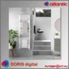 Atlantic DORIS Digital örölközőszárító radiátor 5 év garancia