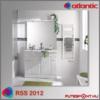 Atlantic RSS 2012 törölközőszárító radiátor 5 év garancia