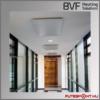 BVF NG infrapanel mennyezeti elhelyezése, mennyezeti infrafűtés