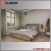 glamox norvég panel hálószobában