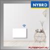 nybro wifi fűtőpanel falon elhelyezve