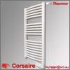 Thermor Corsaire törölközőszárító íves radiátor termosztáttal
