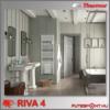 Thermor Riva4 törölközőszárító radiátor 5 év garancia