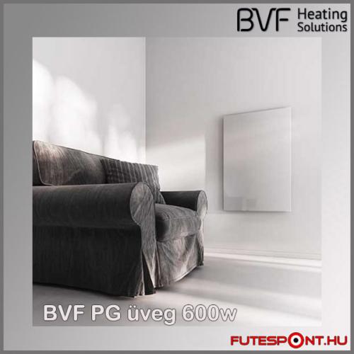Bvf PG 600W üveg infrapanel fehér