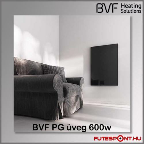 Bvf PG 600W üveg infrapanel fekete