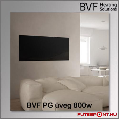 Bvf PG 800W üveg infrapanel fekete