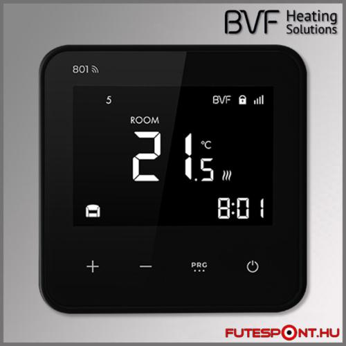 BVF 801 wifi duplaszenzoros termosztát fekete