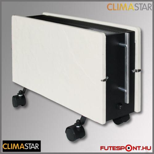 climastar OPTIMUS hőtárolós mobil fűtőpanel, kerámia, fehér pala