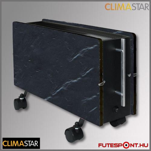 climastar OPTIMUS hőtárolós mobil fűtőpanel, kerámia, fekete pala