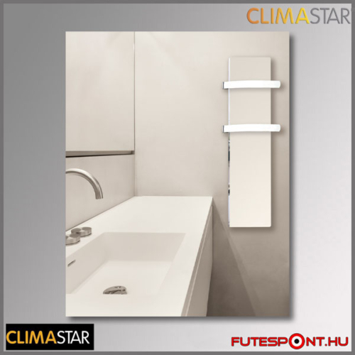climastar SLIM kerámia törölközőszárító 500W - fehér mészkő