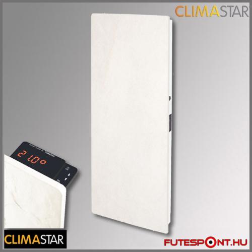 climastar smart touch álló hőtárolós fűtőpanel, kerámia, fehér mészkő 1000w