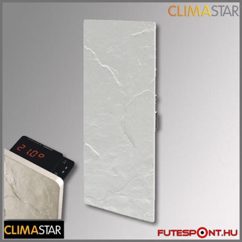 climastar smart touch álló hőtárolós fűtőpanel, kerámia, fehér pala 1000w