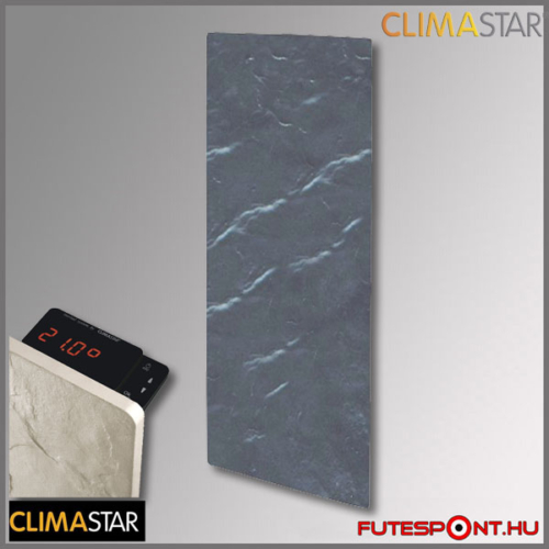 climastar smart touch álló hőtárolós fűtőpanel, kerámia, fekete pala 1000w