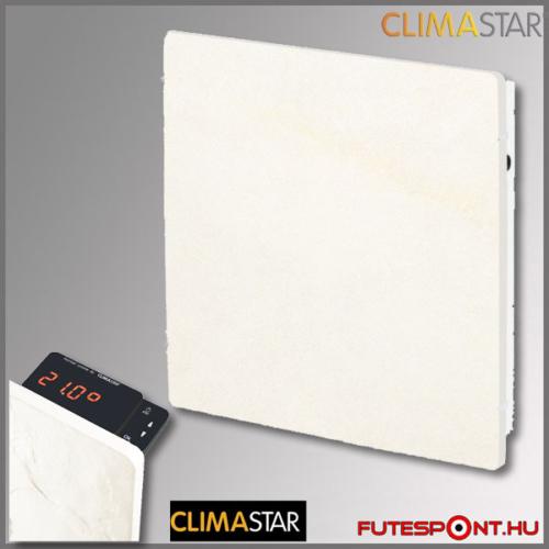 climastar smart touch hőtárolós fűtőpanel, kerámia,1000w, fehér mészkő, kasmír