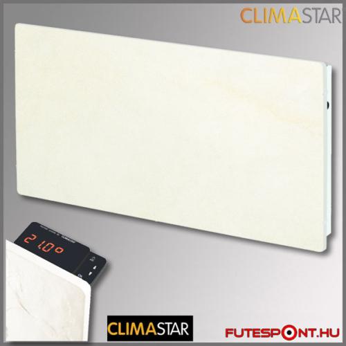 climastar smart touch hőtárolós fűtőpanel, kerámia, fehér mészkő