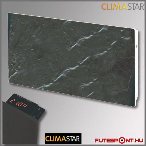 climastar smart touch hőtárolós fűtőpanel, kerámia, fekete pala