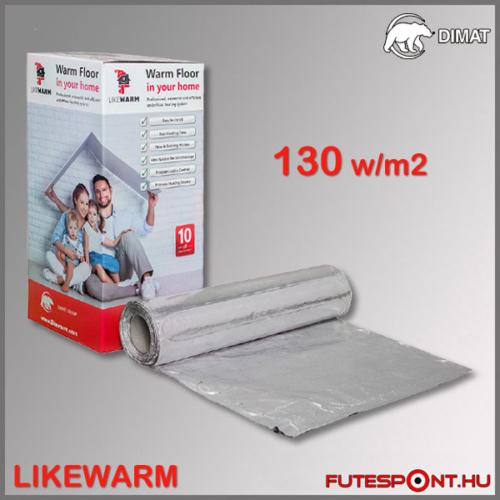 Likewarm F-MAT alu fűtőszőnyeg 130W/m2 laminált padló vagy melegburkolat alá
