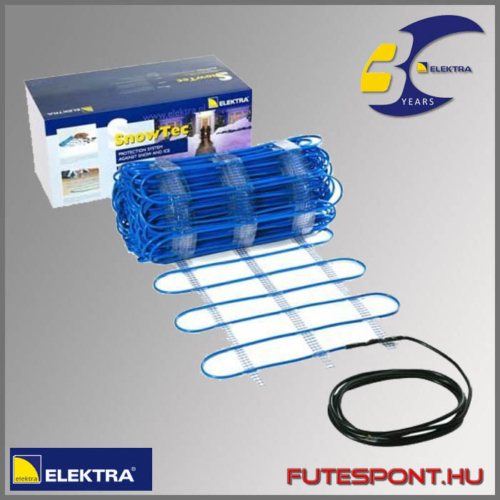 Elektra Snowtec kültéri fűtőszőnyeg 300W/m2, rámpafűtés, garázsbehajtó fűtése, járdafűtés